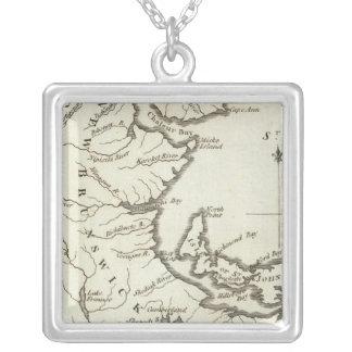 Nuevo mapa de Nueva Escocia, Nuevo Brunswick Colgante Cuadrado