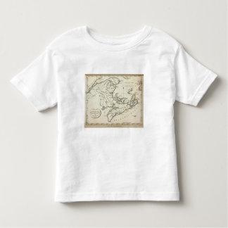 Nuevo mapa de Nueva Escocia, Nuevo Brunswick T Shirt
