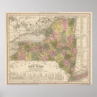 Nuevo mapa de Nueva York Impresiones