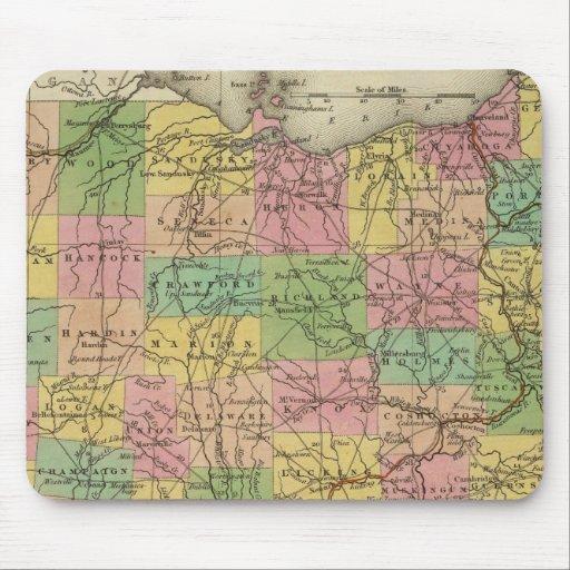 Nuevo mapa de Ohio 2 Mouse Pads
