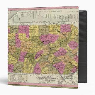 """Nuevo mapa de Pennsylvania 2 Carpeta 1 1/2"""""""