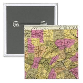 Nuevo mapa de Pennsylvania 2 Pin Cuadrada 5 Cm