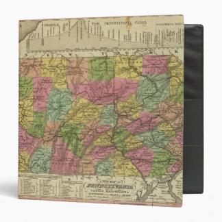 """Nuevo mapa de Pennsylvania Carpeta 1 1/2"""""""