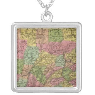 Nuevo mapa de Pennsylvania Colgante Cuadrado