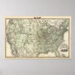 Nuevo mapa del ferrocarril de los Estados Unidos 2 Impresiones