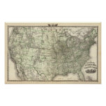 Nuevo mapa del ferrocarril de los Estados Unidos 2 Póster