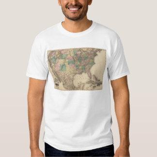 Nuevo mapa del ferrocarril de los Estados Unidos 3 Camisas
