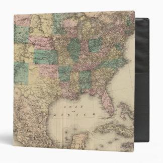 """Nuevo mapa del ferrocarril de los Estados Unidos 3 Carpeta 1 1/2"""""""