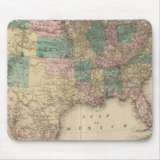 Nuevo mapa del ferrocarril de los Estados Unidos 3 Mouse Pad