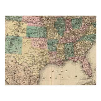 Nuevo mapa del ferrocarril de los Estados Unidos 3 Postales