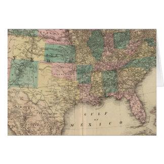Nuevo mapa del ferrocarril de los Estados Unidos 3 Tarjeta De Felicitación