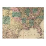 Nuevo mapa del ferrocarril de los Estados Unidos 3 Postal