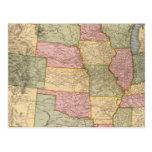 Nuevo mapa del ferrocarril de los Estados Unidos Postales