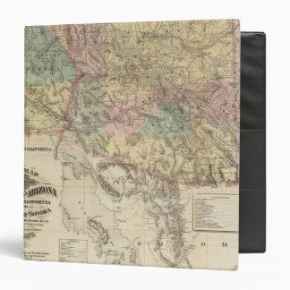 """Nuevo mapa del territorio de Arizona Carpeta 1 1/2"""""""