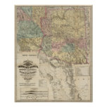 Nuevo mapa del territorio de Arizona Póster