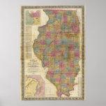 Nuevo mapa seccional del estado de Illinois 2 Póster