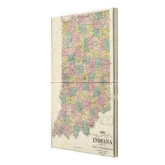 Nuevo mapa seccional y del municipio de Indiana Impresiones En Lona
