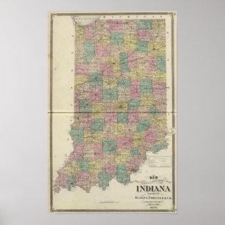 Nuevo mapa seccional y del municipio de Indiana Póster