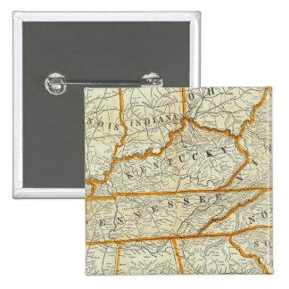 Nuevo mapa topográfico de la guerra de Perrine Pin Cuadrada 5 Cm