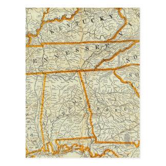 Nuevo mapa topográfico de la guerra de Perrine Postal