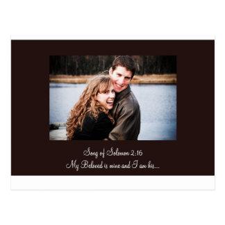 nuevo marrón, para la invitación, canción del 2:16 tarjetas postales