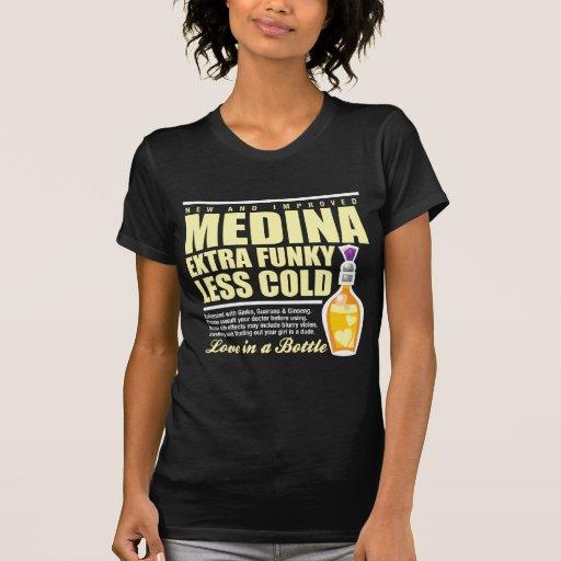 Nuevo Medina frío enrrollado Camiseta