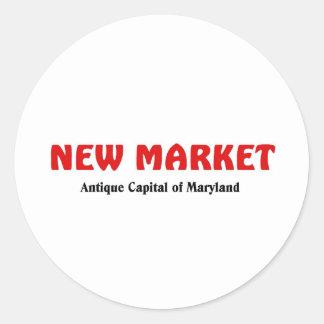 Nuevo mercado, Maryland Pegatina Redonda