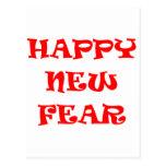Nuevo miedo feliz tarjetas postales