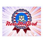 Nuevo Milford, CT Tarjeta Postal
