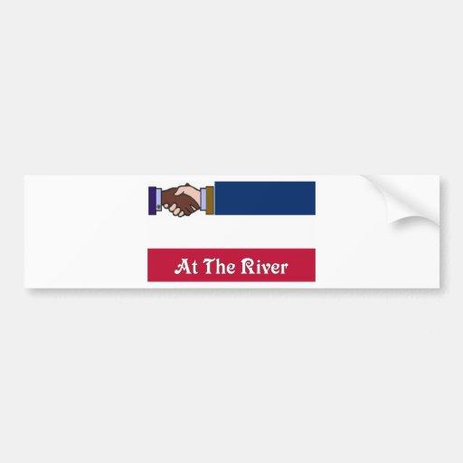 Nuevo Mississippi v2 en el río 2 Etiqueta De Parachoque