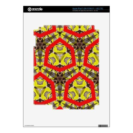 Nuevo modelo abstracto pegatina skin para iPad 3