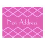 Nuevo modelo del rosa de la dirección tarjetas postales
