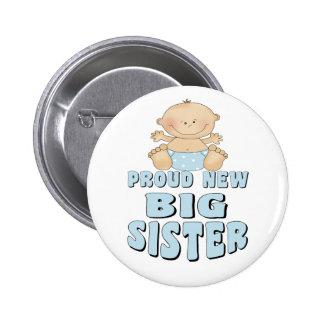 Nuevo muchacho orgulloso de la hermana grande pin