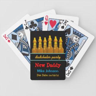 Nuevo naipes personalizados de Dadchelor del papá  Barajas De Cartas