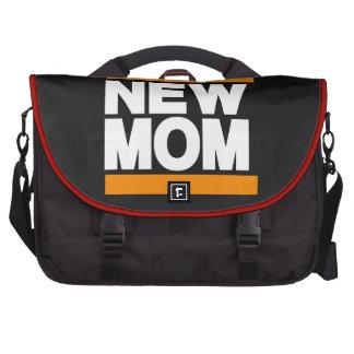 Nuevo naranja de la mamá bolsas para portatil