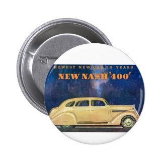 """Nuevo Nash """"400"""" Pin Redondo De 2 Pulgadas"""