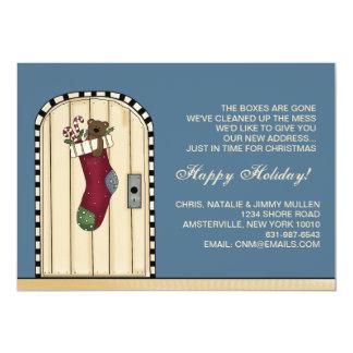 Nuevo navidad de la dirección - invitación móvil