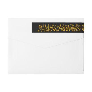 Nuevo navidad del copo de nieve de la dirección etiquetas postales