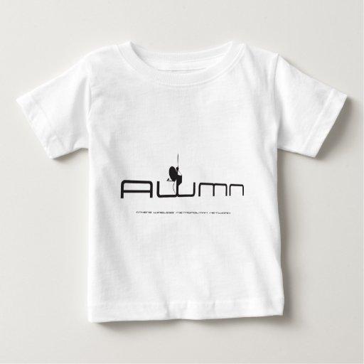 Nuevo negro del logotipo de la edad AWMN Tee Shirts