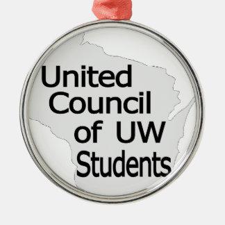 Nuevo negro unido del logotipo del consejo en gris ornatos