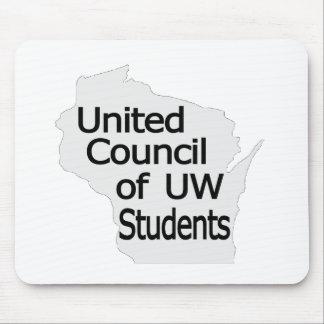 Nuevo negro unido del logotipo del consejo en gris tapete de ratones