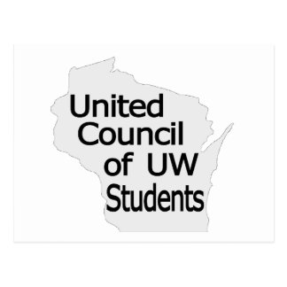 Nuevo negro unido del logotipo del consejo en gris tarjetas postales