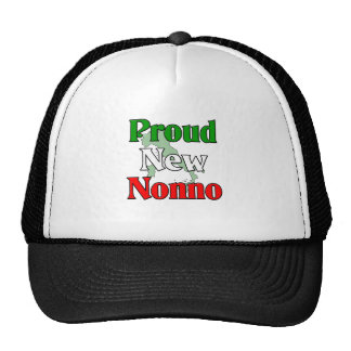 Nuevo Nonno orgulloso (abuelo italiano) Gorros