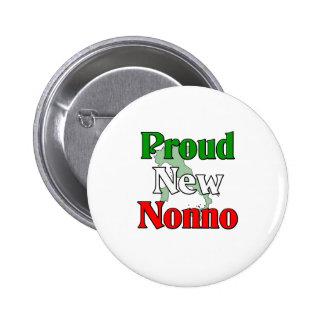Nuevo Nonno orgulloso (abuelo italiano) Pin Redondo De 2 Pulgadas