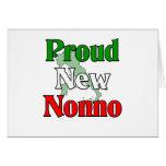 Nuevo Nonno orgulloso (abuelo italiano) Tarjeta