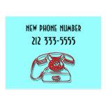 nuevo número de teléfono tarjetas postales
