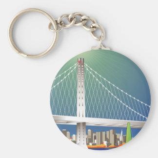 Nuevo Oakland paisaje urbano del puente de la Llavero Redondo Tipo Pin