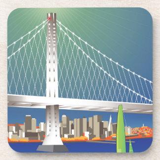 Nuevo Oakland paisaje urbano del puente de la Posavasos