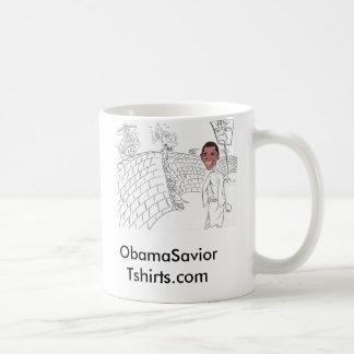 nuevo obama, ObamaSavior   Tshirts.com Taza De Café