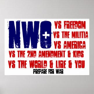 Nuevo orden mundial contra usted poster de la band